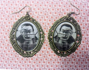 free shipping -  Salvador  Dali earrings /  jewelry