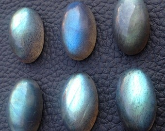 GIANT EXTREMELY Rare Blue Flashy Labradorite Cabachons, 3 Pieces of 20x12mm Oval,Superb Item