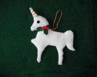Felt Unicorn / Unicorn Ornament / Car Hanger / Fantasy / Magical / Mystical