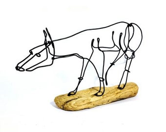 Fox Wire Sculpture, Wire Art, 216314806