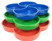 3 Vintage Dansk Designs Gunnar Cyren Plastic Clover Trays Red Green Blue