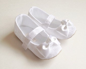 Toddler Girl Shoes Baby Girl Shoes Soft Soled Shoes Lace Wedding Shoes Easter Shoes Flower Girl Shoes White Shoes - Sara