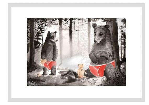 Teddy Bear's picnic - A3 Print