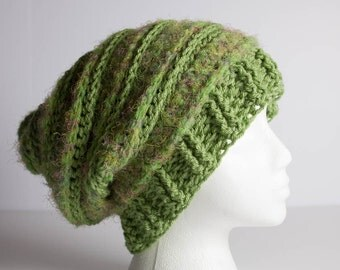 Crochet Hat, Beanie, Slouchy Beanie, Crochet Beanie, Crochet Shaggy Beanie, Shaggy Hat, Adult Textured Ribbed Rasta, Beret