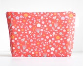 cosmetic bag. large wet bag. woodland floral. organic cotton. by Cloud Love Baby Australia