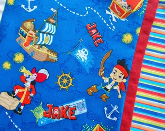 Jake the Pirate Childrens or Travel  Pillow Case