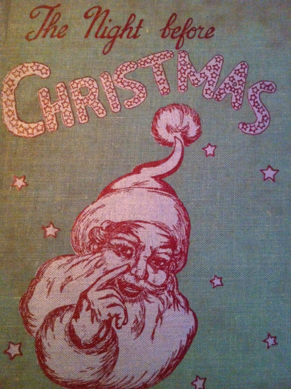 1948 The Night Before Christmas hardcover old book beautiful illustrations