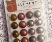 Pearl Brads by American Crafts 16pcs // Metallics