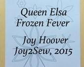 Queen Elsa Frozen Fever dress stencil template designs