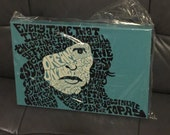NEW Steven Tyler Psychedelic Hand-illustrated Type 12'' x18'' Canvas Print