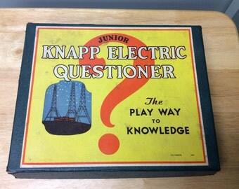 Antique Game - Junior Knapp Electric Questioner