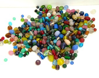 Glass Bead Assortment - 12 oz