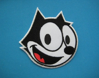 Iron-on Embroidered Patch Felix face 3 inch