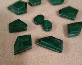 Malachite Faceted Chunky Gemstone Beads