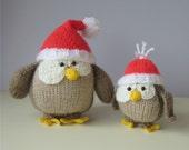 Festive Owls toy knitting patterns