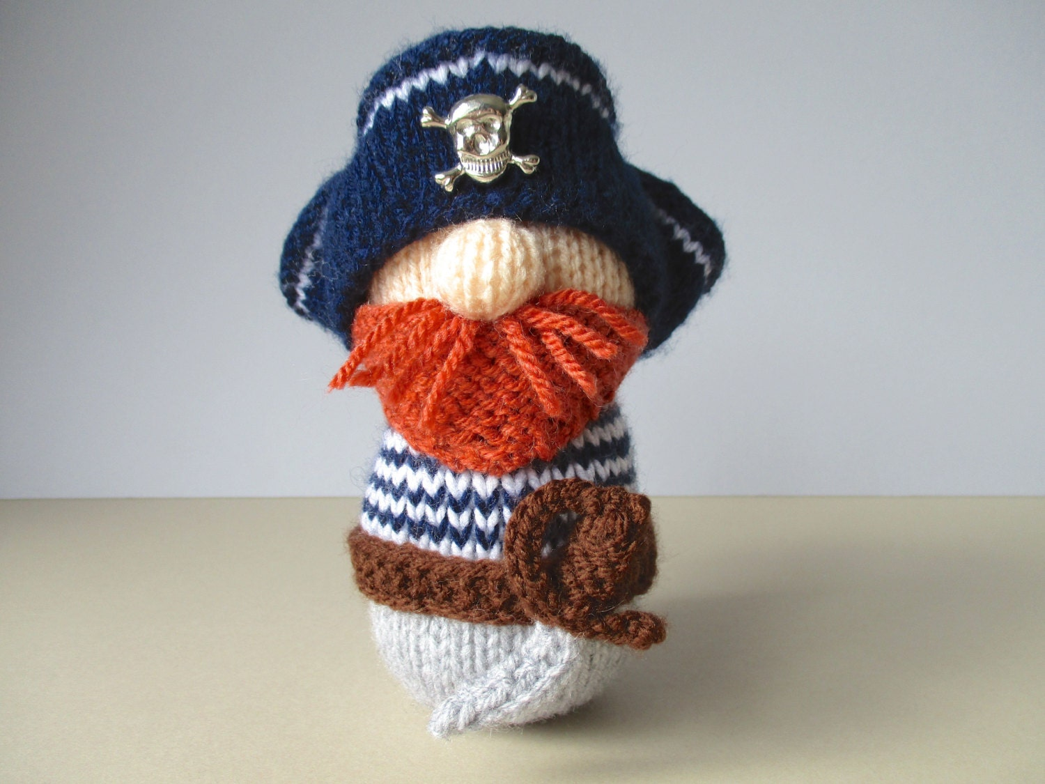 Knitting Patterns For Toys On Etsy : Pirate Pete toy knitting patterns