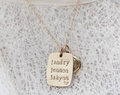 Names to Remember Personalized Gold Necklace