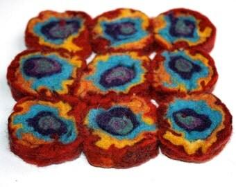 Trivet Felt Spiral Jellyroll Square