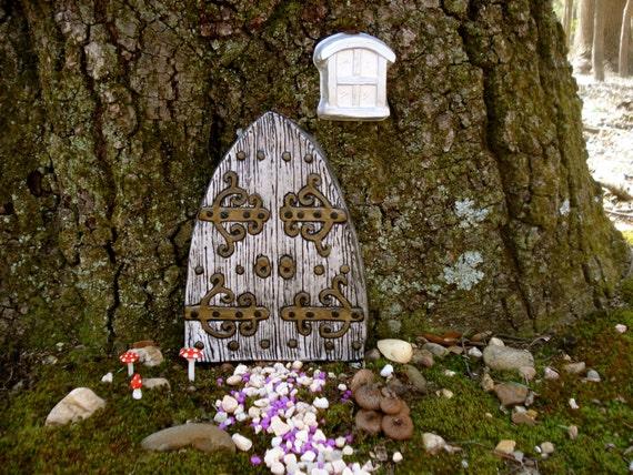 Large fairy Door Set, Fairy Garden kit, Garden fairy doors, gifts for children, fairy garden decor, fairy door kit, gnome door,