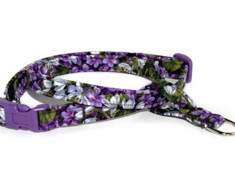 The Figure 8 Cat Harness in Wisteria by Neck Candy Collars