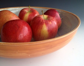 Serving Bowl, Pasta Serving Bowl, Salad Bowl, Fruit Bowl, Stoneware pottery by Leslie Freeman