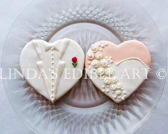 Gown and Tux Cookies  1 Dozen (12)  w