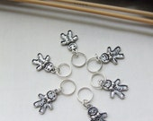 Reserved - Gingerbread man  -  Stitch markers