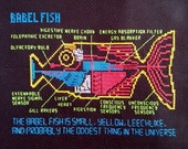 Babel Fish cross stitch pattern Hitchhiker's Guide to the Galaxy