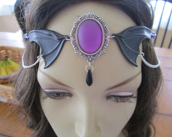 Ebon Circlet of the Dark Fey Celtic Druid LARP Bridal Renaissance Fairy