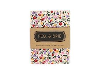 Blush Floral Pocket Square