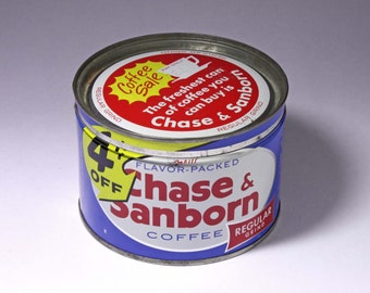 Vintage Chase & Sanborn Coffee Can - Circa 1950's