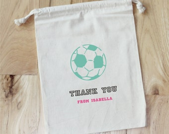 SOCCER - Personalized Favor Bags - Set of 10 - Birthday - SPORTS  PARTY- team favors