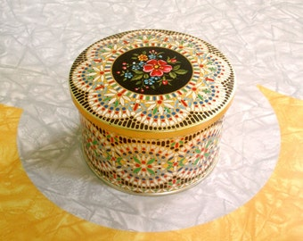 Small Floral Tin - Made in Belgium