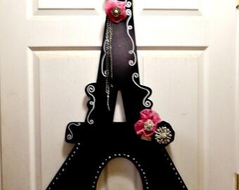 Eiffel Tower decoration, Parisian blackboard decoration for wedding reception,  themed Bridal shower and Baby  Shower.