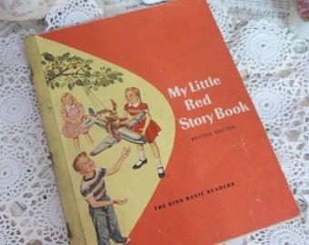 Vintage Ginn Basic Reader-Primer-Scott Foresman-My Little Red Story Book