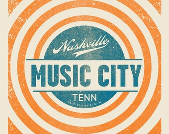 Music City screen print