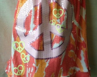 Give Peace a Chance Skirt - Size 5/6 - READY TO SHIP