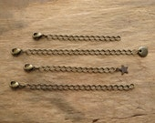 Antiqued Brass Extender Chain, universal chain extender for necklaces, use to adjust necklace length, perfect for layering necklaces