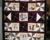 Dog Breed Fabric Blanket - Cotton Front and Flannel Back - one of a kind