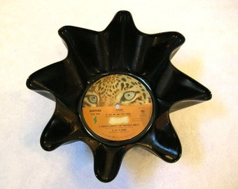 Santana Record Bowl Made From Repurposed Vinyl Album - Leopard Label