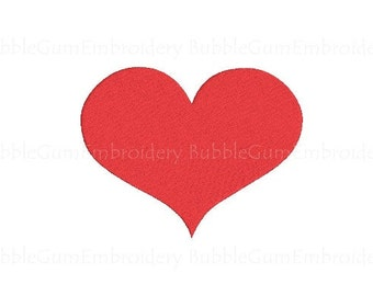 Curvy Heart Embroidery Design Instant Download