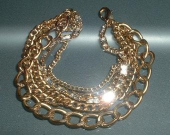 Vintage Multi Chain Rhinestone Bracelet RETRO