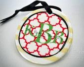 Monogram Porcelain Ornament - Custom Made