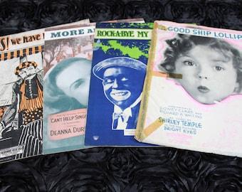 SALE Vintage Sheet Music Shirley Temple Deanna Durbin