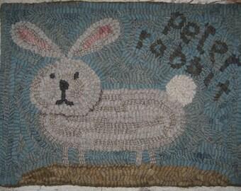 Primitive Rug Hooking Pattern-Peter Rabbit