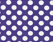 """Purple & White Dots 60"""" Wide - Fabric Finders"""