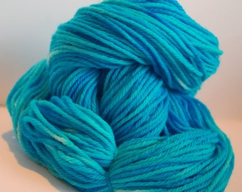 Custom Hand-dyed Semi-solid Organic Merino Wool Yarn Skein 4 oz