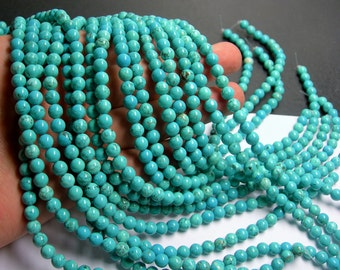 Howlite turquoise -  6mm beads -  full strand -  65 pcs - A Quality - RFG170
