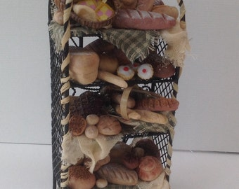 Dolls House Miniatures - Rustic Wire Bread Shelves  - NEW SPRING 2015