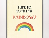 16x20 I Like to Look for Rainbows Art Print LDS Mormon